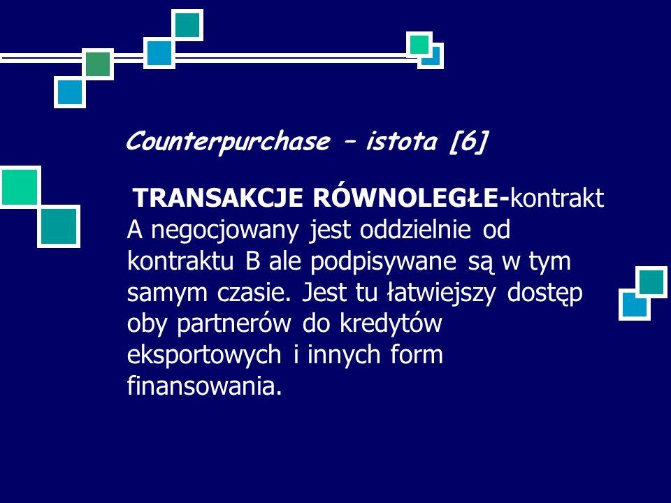 Counterpurchase – istota [6]